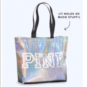 Victoria's Secret Pink Holographic Iridescent Bag